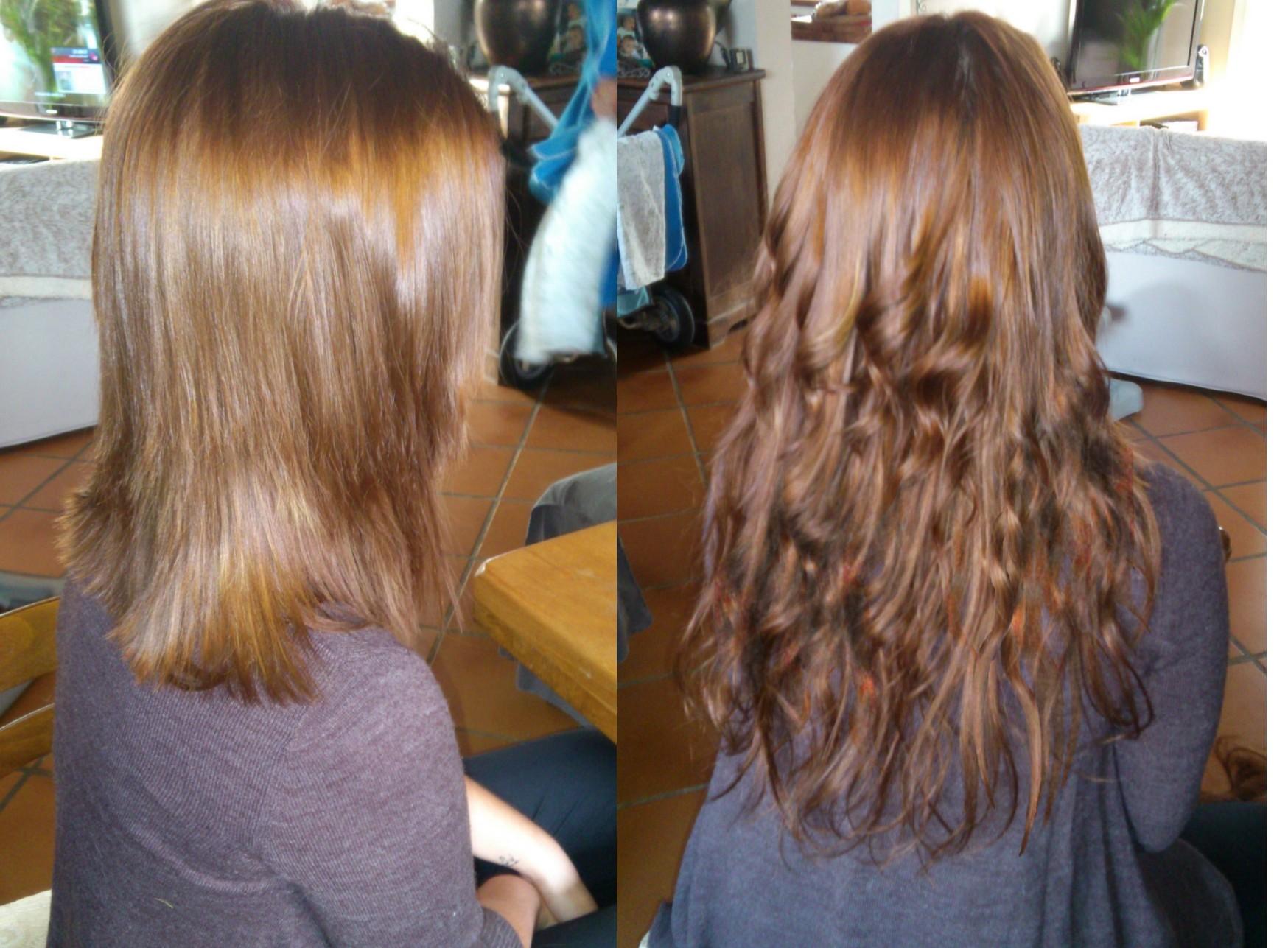 Fabuleux En Passant Extensions de Cheveux à domicile IX23